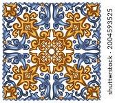 azulejos portuguese dutch tile... | Shutterstock .eps vector #2004593525