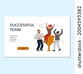 successful team concept.... | Shutterstock . vector #2004595382