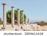 ancient ruins of colonnaded...   Shutterstock . vector #2004611618