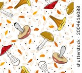 seamless autumn pattern with... | Shutterstock .eps vector #2004616088