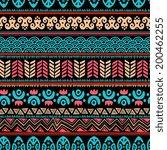 tribal vintage ethnic seamless... | Shutterstock .eps vector #200462255