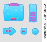 game ui window buttons set blue ...