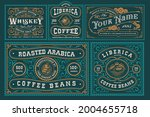 vintage labels bundle  these... | Shutterstock .eps vector #2004655718