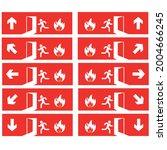 emergency exit door set. the...   Shutterstock .eps vector #2004666245