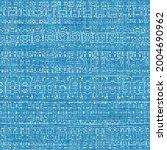 seamless bright blue blueprint... | Shutterstock . vector #2004690962