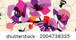 tropical plants and jungle... | Shutterstock .eps vector #2004738335