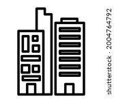 office outline icon  tower....