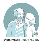 happy old couple portrait. old... | Shutterstock .eps vector #2004767402