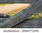 Close Up Of Rustic Timber Fence ...