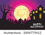 happy halloween. a tense night... | Shutterstock .eps vector #2004775412