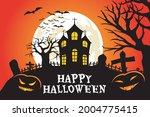 happy halloween. a tense night... | Shutterstock .eps vector #2004775415