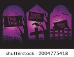 happy halloween. a tense night... | Shutterstock .eps vector #2004775418