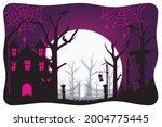 happy halloween. a tense night... | Shutterstock .eps vector #2004775445