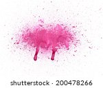 abstract vibrant pink gouache... | Shutterstock . vector #200478266