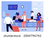 people arriving at airport...   Shutterstock .eps vector #2004796742