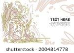 floral pattern background for... | Shutterstock .eps vector #2004814778