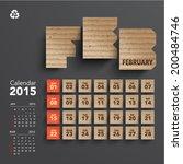 vector 2015 cardboard calendar... | Shutterstock .eps vector #200484746