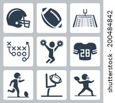 American Football Vector Icons...