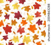 maple leafs seamless background.... | Shutterstock .eps vector #2004863288