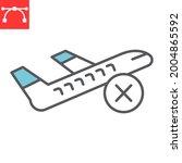flight cancelled color line...   Shutterstock .eps vector #2004865592