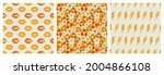 a set of seamless patterns in...
