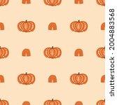 pumpkin rainbow fall seamless...   Shutterstock .eps vector #2004883568