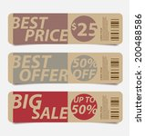 offers and promotions banners...   Shutterstock .eps vector #200488586