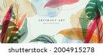 abstract art gold tropical... | Shutterstock .eps vector #2004915278