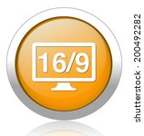 16 9 display icon | Shutterstock .eps vector #200492282