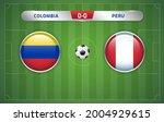 colombia vs  peru scoreboard... | Shutterstock .eps vector #2004929615
