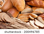 different bread and bread... | Shutterstock . vector #200496785