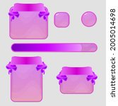 game ui buttons window set pink ...