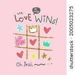 love slogan with colorful heart ... | Shutterstock .eps vector #2005023275
