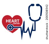 blue and red heart center icon... | Shutterstock . vector #200508542