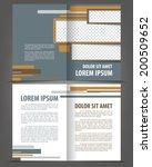 vector empty bi fold brochure... | Shutterstock .eps vector #200509652