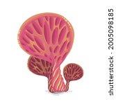 beautiful fantasy mushrooms set.... | Shutterstock .eps vector #2005098185
