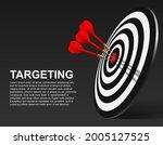 red dart hit to center of...   Shutterstock .eps vector #2005127525