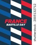 bastille day in france.... | Shutterstock .eps vector #2005132712