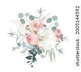 blush pink garden roses ... | Shutterstock .eps vector #2005144592