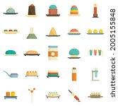 molecular cuisine icons set.... | Shutterstock .eps vector #2005155848