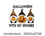 halloween with my gnomes.... | Shutterstock .eps vector #2005163738
