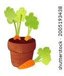 farmers market vegetable pot.... | Shutterstock .eps vector #2005193438