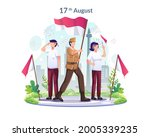 youth and heroes celebrate... | Shutterstock .eps vector #2005339235