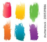set of vector color brush... | Shutterstock .eps vector #200539886