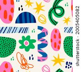 abstract various bright doodle... | Shutterstock .eps vector #2005405082