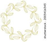 gold leafy graceful frame for... | Shutterstock .eps vector #2005416545
