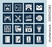 Set Of Vector Icons Of Auto...