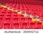 empty red stadium seats | Shutterstock . vector #200542712