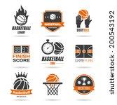 basketball icon set   3 | Shutterstock .eps vector #200543192
