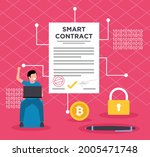 blockchain smart contract... | Shutterstock .eps vector #2005471748